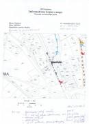 Snímka z mapy s vyznačenými inžinierskymi sieťami